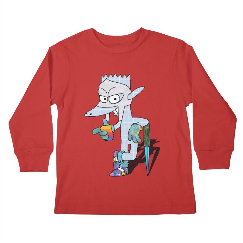 Lil' Qurt [unseen] Kids Longsleeve T-Shirt by SHADEPRINT.DESIGN