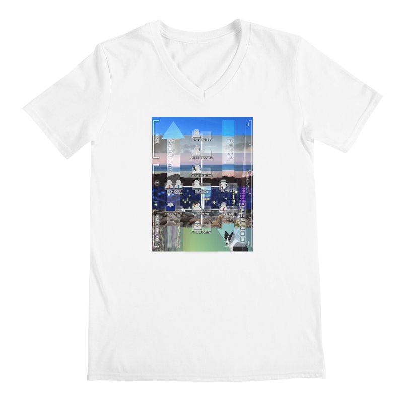 = Mind Factory = Men's V-Neck by Shadeprint's Artist Shop