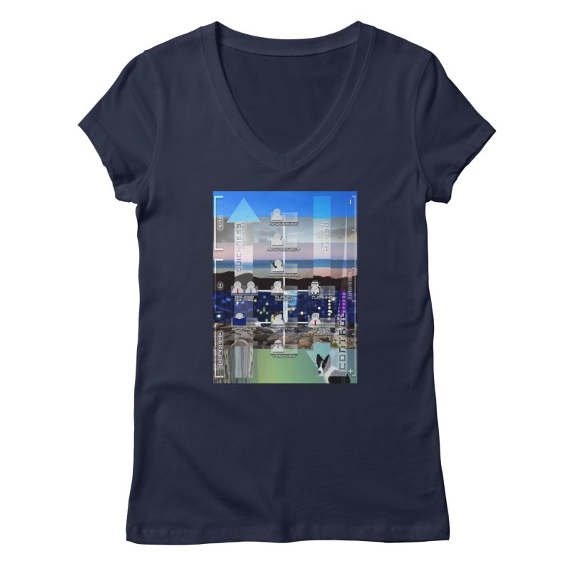 = Mind Factory = Women's Regular V-Neck by Shadeprint's Artist Shop