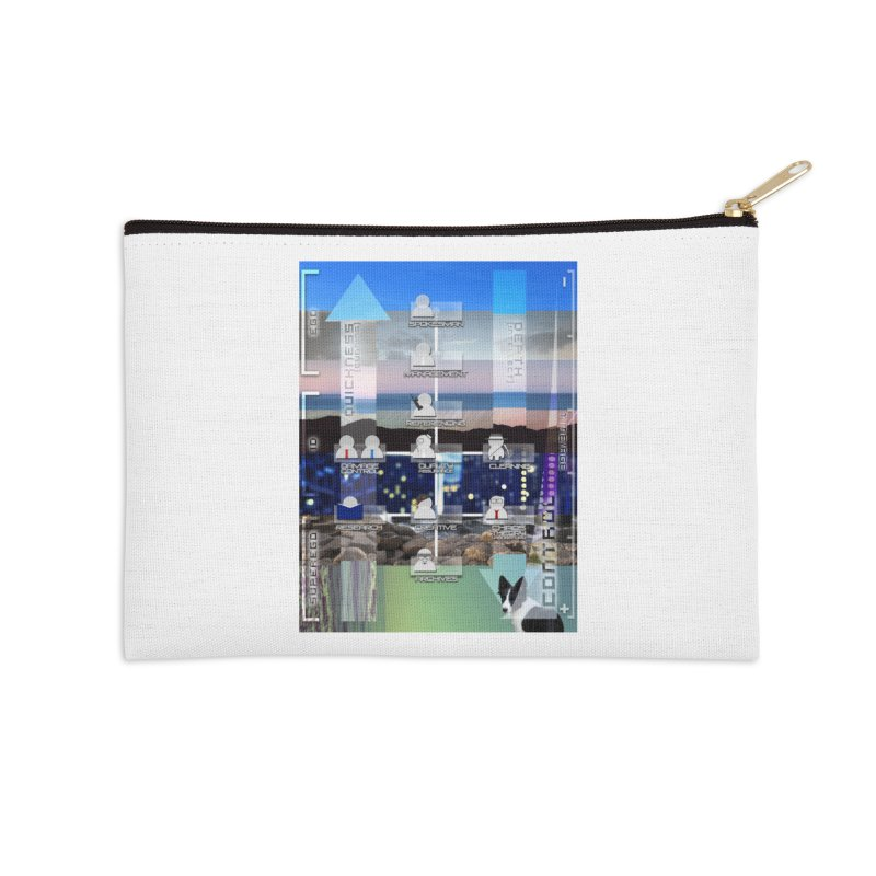 = Mind Factory = Accessories Zip Pouch by SHADEPRINT.DESIGN