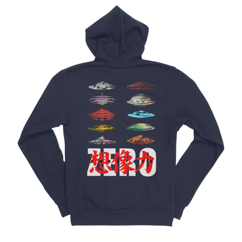 Drop Footage // Creative ZERO [aka ZERO Creative] Women's Sponge Fleece Zip-Up Hoody by Shadeprint's Artist Shop