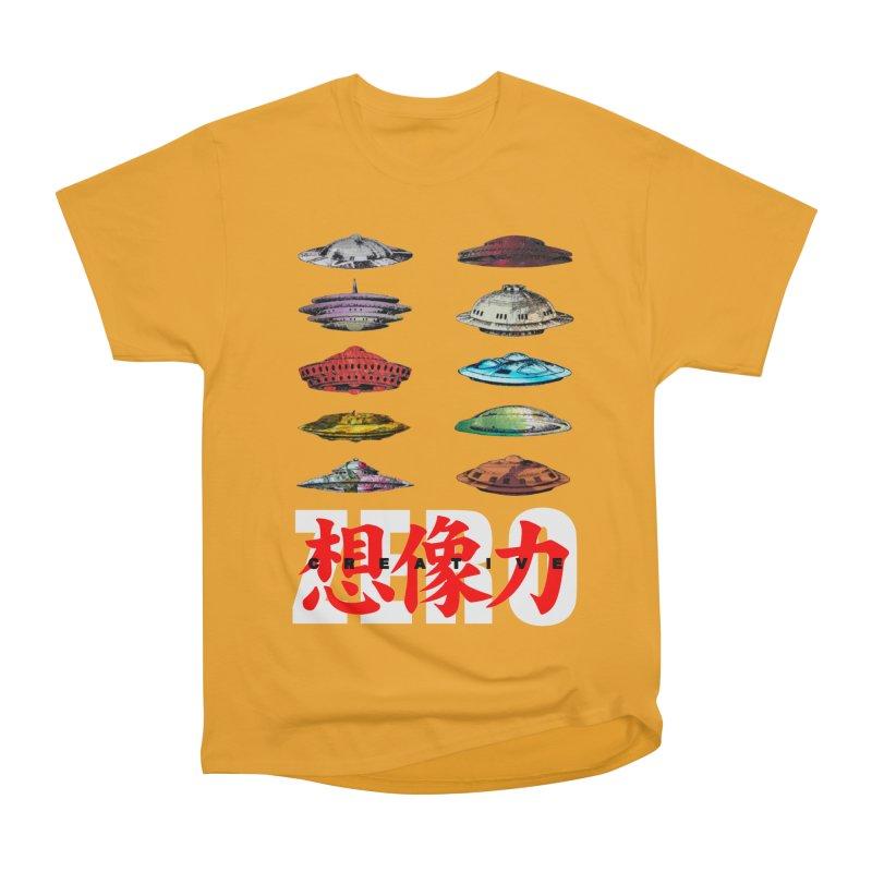 Drop Footage // Creative ZERO [aka ZERO Creative] Men's Heavyweight T-Shirt by Shadeprint's Artist Shop