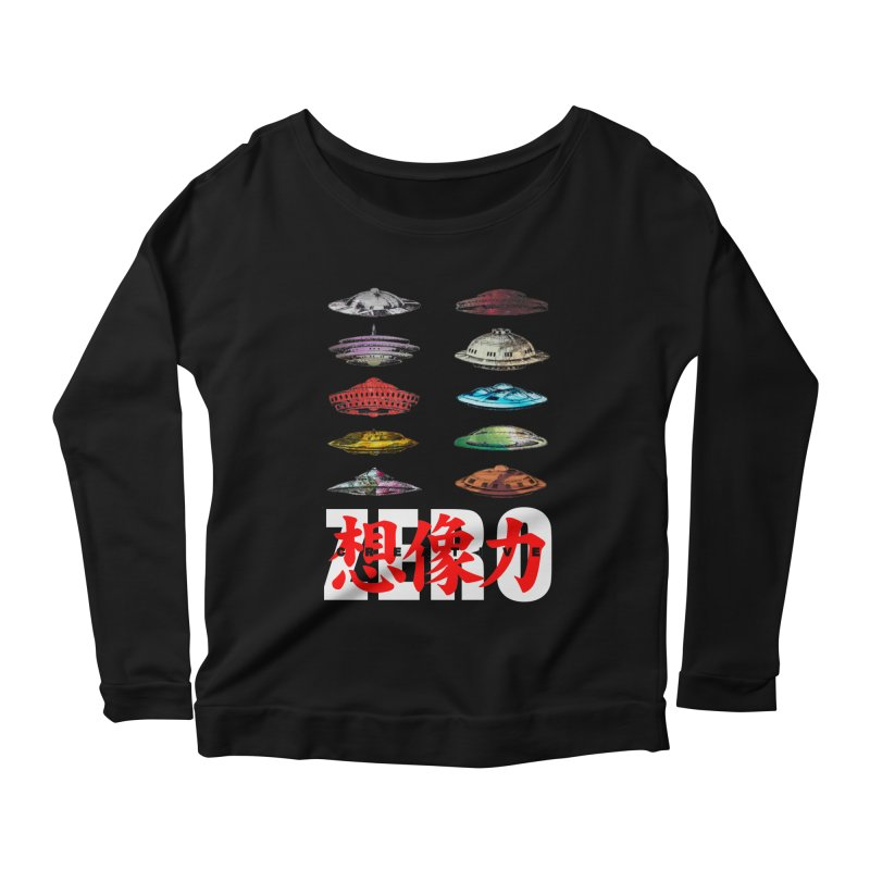 Drop Footage // Creative ZERO [aka ZERO Creative] Women's Scoop Neck Longsleeve T-Shirt by Shadeprint's Artist Shop