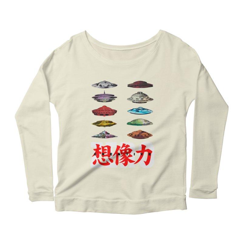 Drop Footage // Creative ZERO [aka ZERO Creative] Women's Scoop Neck Longsleeve T-Shirt by Shadeprint's Artist Shop