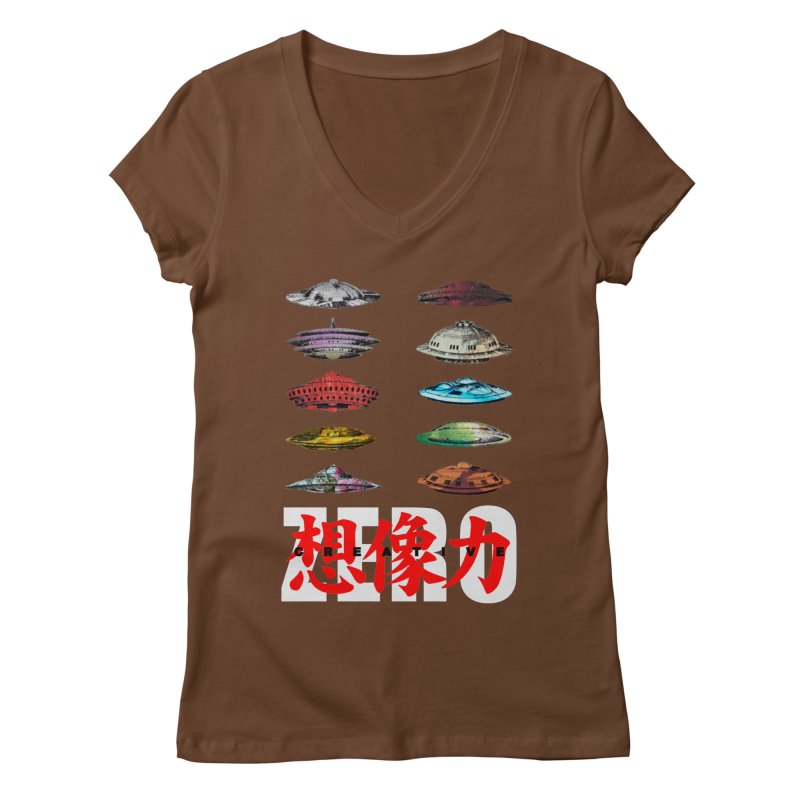 Drop Footage // Creative ZERO [aka ZERO Creative] Women's Regular V-Neck by Shadeprint's Artist Shop