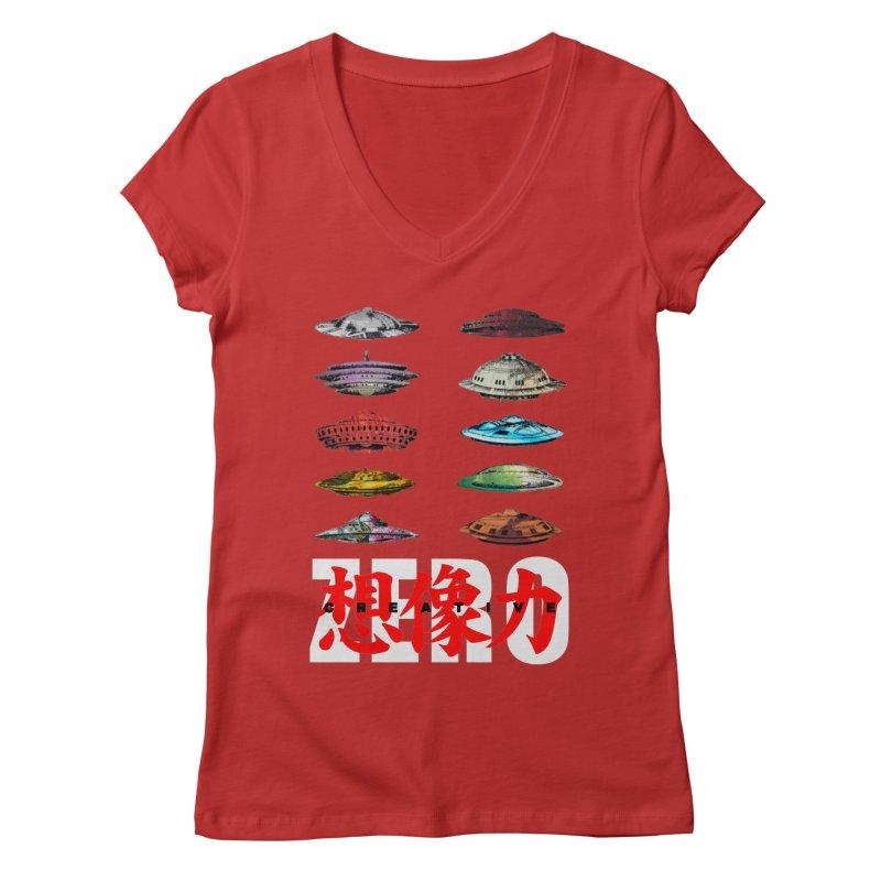 Drop Footage // Creative ZERO [aka ZERO Creative] Women's Regular V-Neck by Shadeprint's Artist Shop