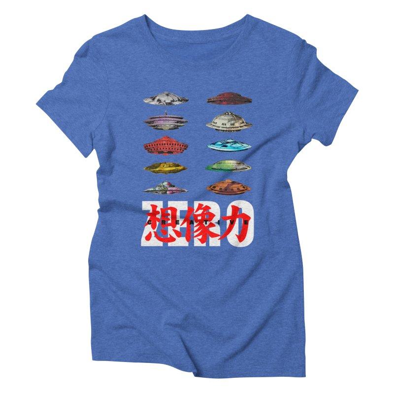 Drop Footage // Creative ZERO [aka ZERO Creative] Women's Triblend T-Shirt by Shadeprint's Artist Shop