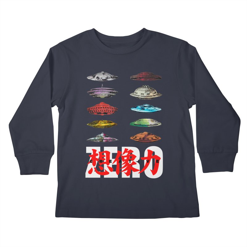 Drop Footage // Creative ZERO [aka ZERO Creative] Kids Longsleeve T-Shirt by Shadeprint's Artist Shop