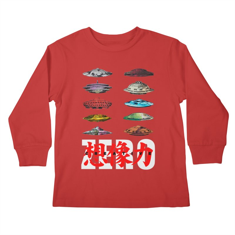 Drop Footage // Creative ZERO [aka ZERO Creative] Kids Longsleeve T-Shirt by Shadeprint's Artist Shop