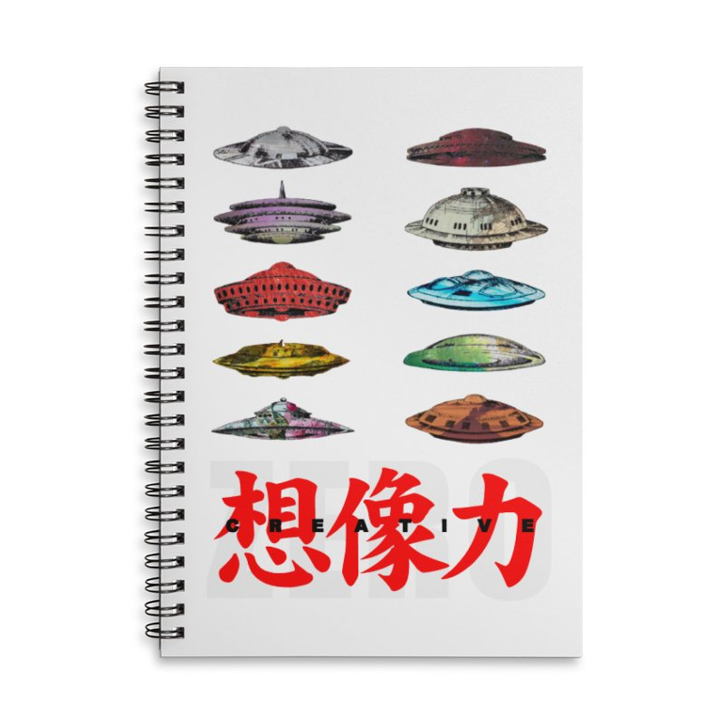Drop Footage // Creative ZERO [aka ZERO Creative] Accessories Lined Spiral Notebook by Shadeprint's Artist Shop