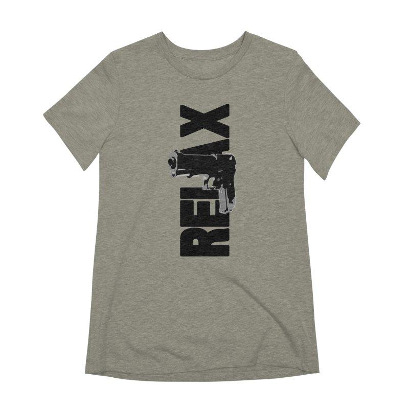 RE⅃AX Women's Extra Soft T-Shirt by Shadeprint's Artist Shop