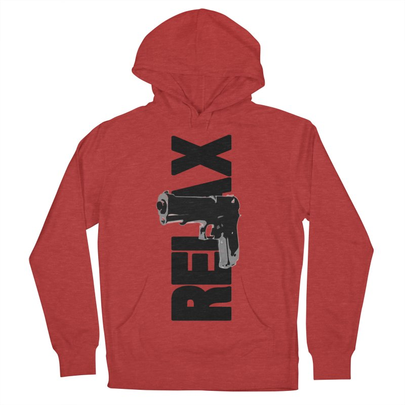 RE⅃AX Women's French Terry Pullover Hoody by Shadeprint's Artist Shop