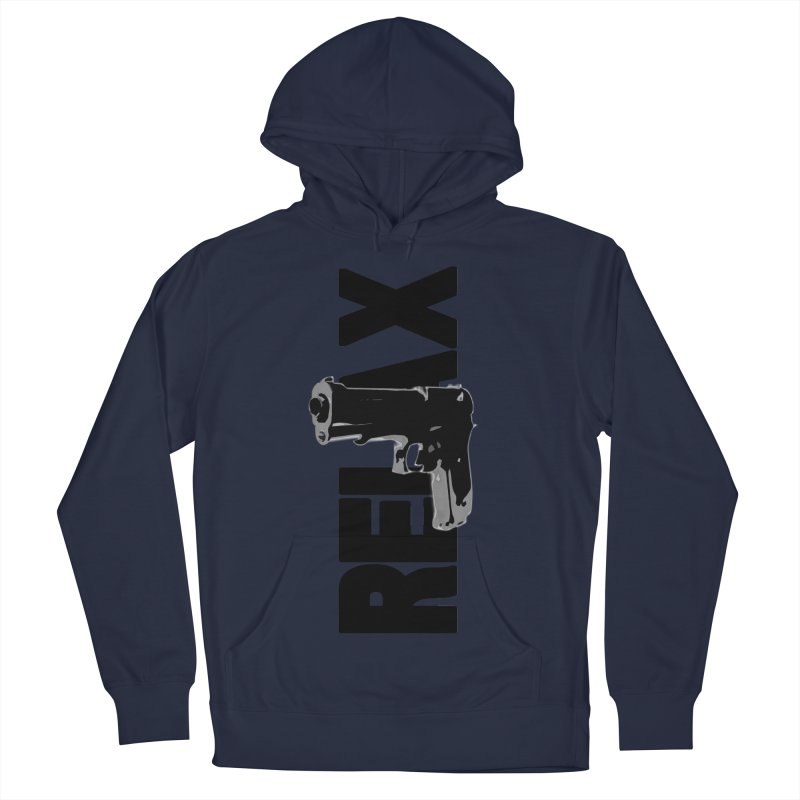 RE⅃AX Men's French Terry Pullover Hoody by Shadeprint's Artist Shop