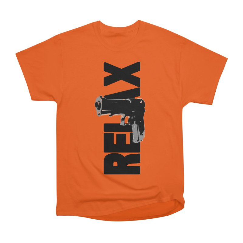 RE⅃AX Men's Heavyweight T-Shirt by Shadeprint's Artist Shop