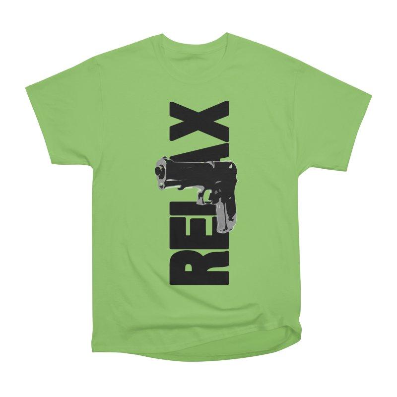RE⅃AX Men's Heavyweight T-Shirt by Shadeprint's Artist Shop