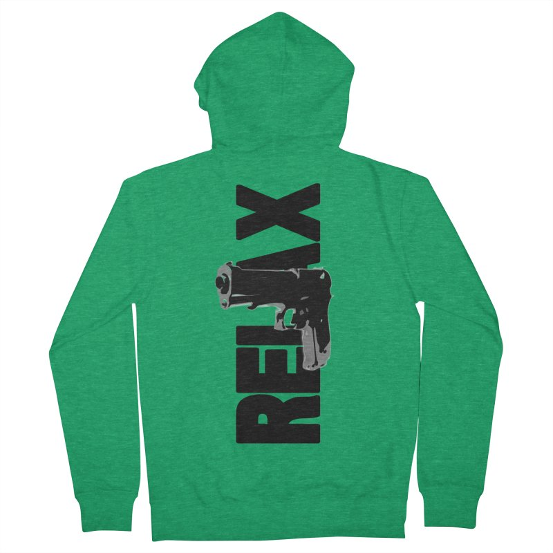 RE⅃AX Women's Zip-Up Hoody by Shadeprint's Artist Shop