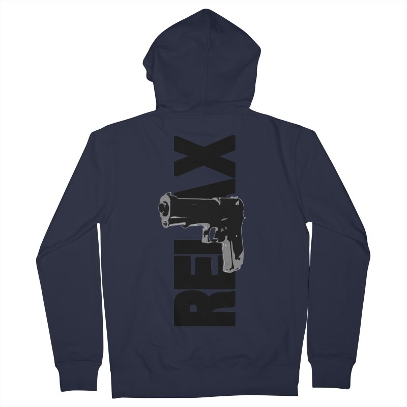 RE⅃AX Women's French Terry Zip-Up Hoody by Shadeprint's Artist Shop