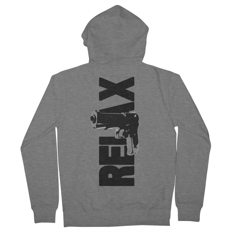 RE⅃AX Men's Zip-Up Hoody by Shadeprint's Artist Shop