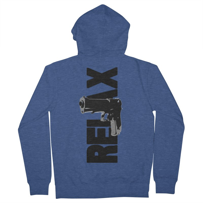 RE⅃AX Men's Zip-Up Hoody by SHADEPRINT.DESIGN