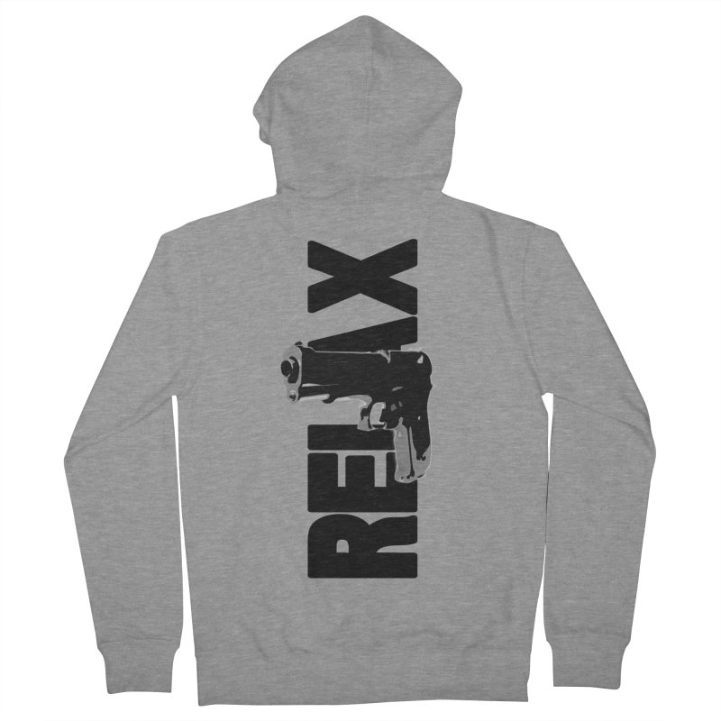 RE⅃AX Men's French Terry Zip-Up Hoody by Shadeprint's Artist Shop