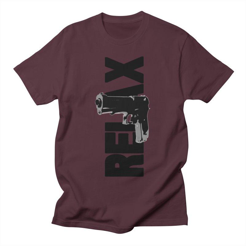RE⅃AX Men's Regular T-Shirt by Shadeprint's Artist Shop