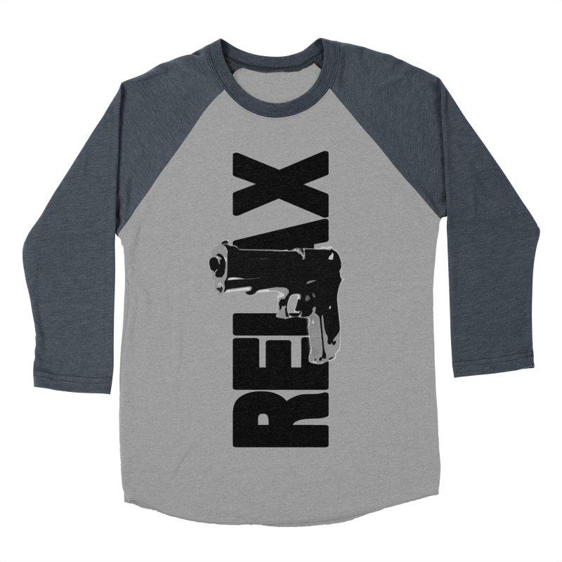 RE⅃AX Men's Baseball Triblend Longsleeve T-Shirt by Shadeprint's Artist Shop