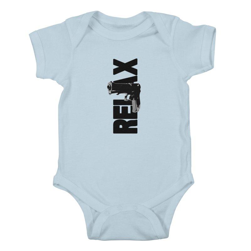 RE⅃AX Kids Baby Bodysuit by Shadeprint's Artist Shop