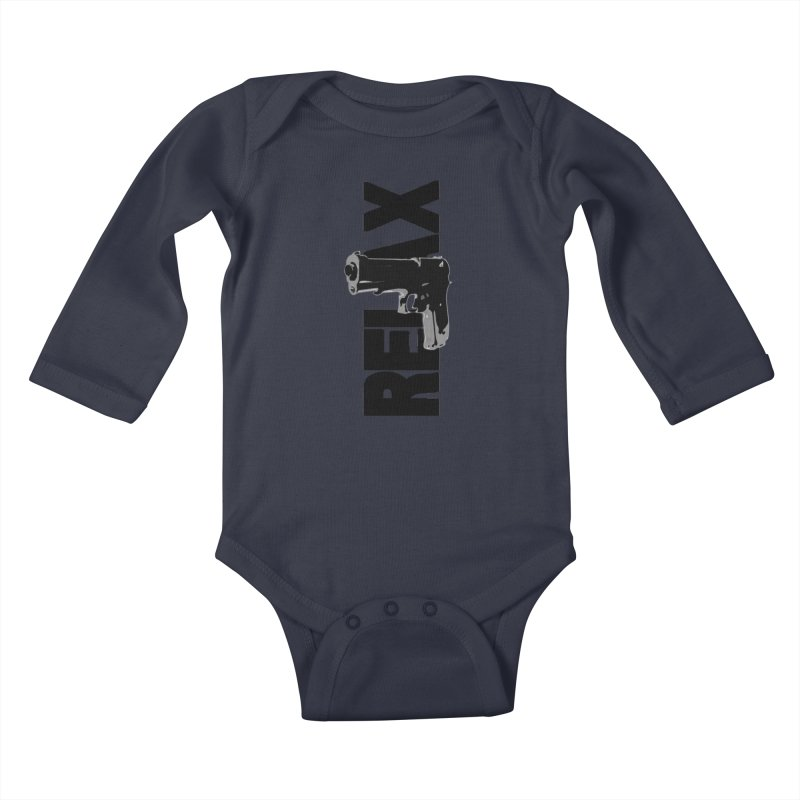 RE⅃AX Kids Baby Longsleeve Bodysuit by Shadeprint's Artist Shop