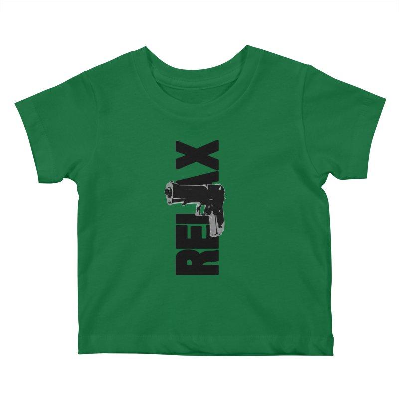 RE⅃AX Kids Baby T-Shirt by Shadeprint's Artist Shop