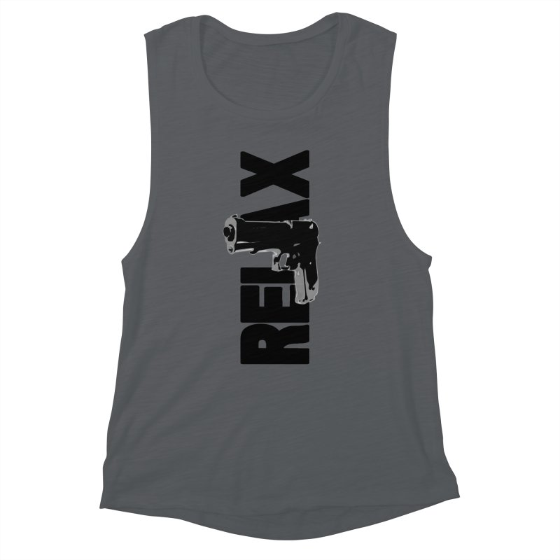 RE⅃AX Women's Muscle Tank by Shadeprint's Artist Shop