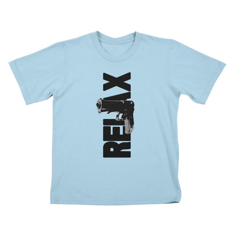 RE⅃AX Kids T-Shirt by Shadeprint's Artist Shop