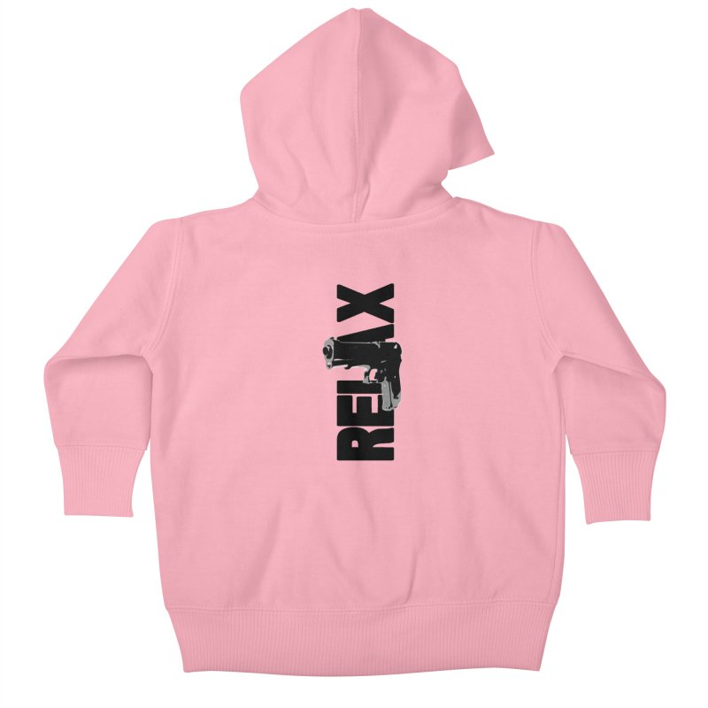RE⅃AX Kids Baby Zip-Up Hoody by Shadeprint's Artist Shop