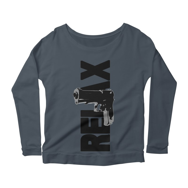 RE⅃AX Women's Scoop Neck Longsleeve T-Shirt by Shadeprint's Artist Shop