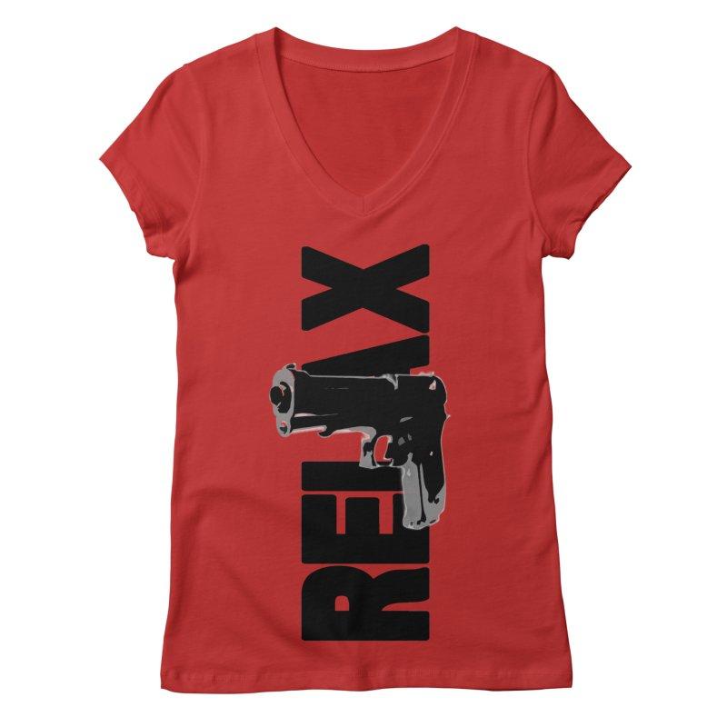 RE⅃AX Women's Regular V-Neck by Shadeprint's Artist Shop