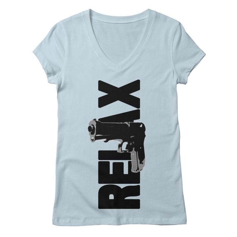 RE⅃AX Women's Regular V-Neck by Shadeprint's Artist Shop