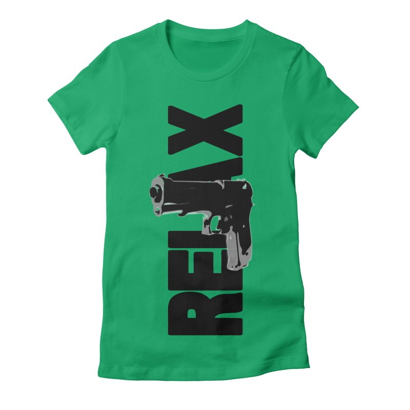 RE⅃AX Women's Fitted T-Shirt by Shadeprint's Artist Shop