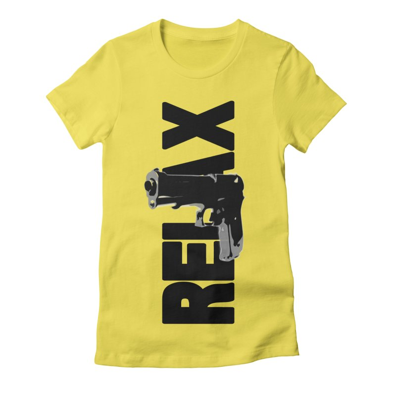RE⅃AX Women's Fitted T-Shirt by Shadeprint's Artist Shop