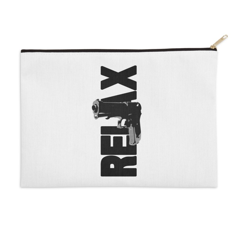 RE⅃AX Accessories Zip Pouch by Shadeprint's Artist Shop