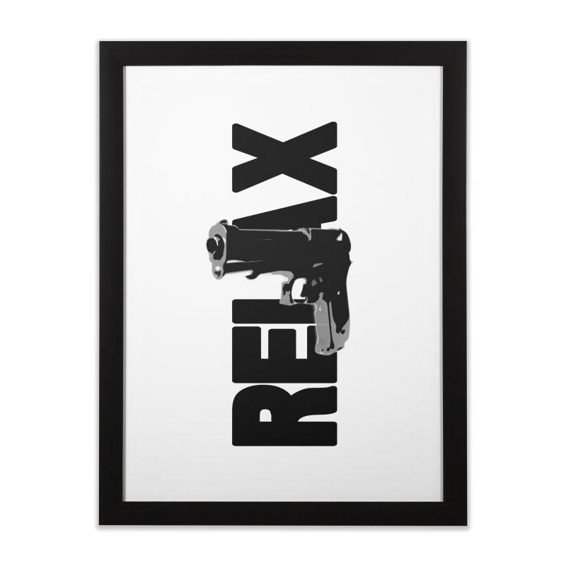 RE⅃AX Home Framed Fine Art Print by Shadeprint's Artist Shop