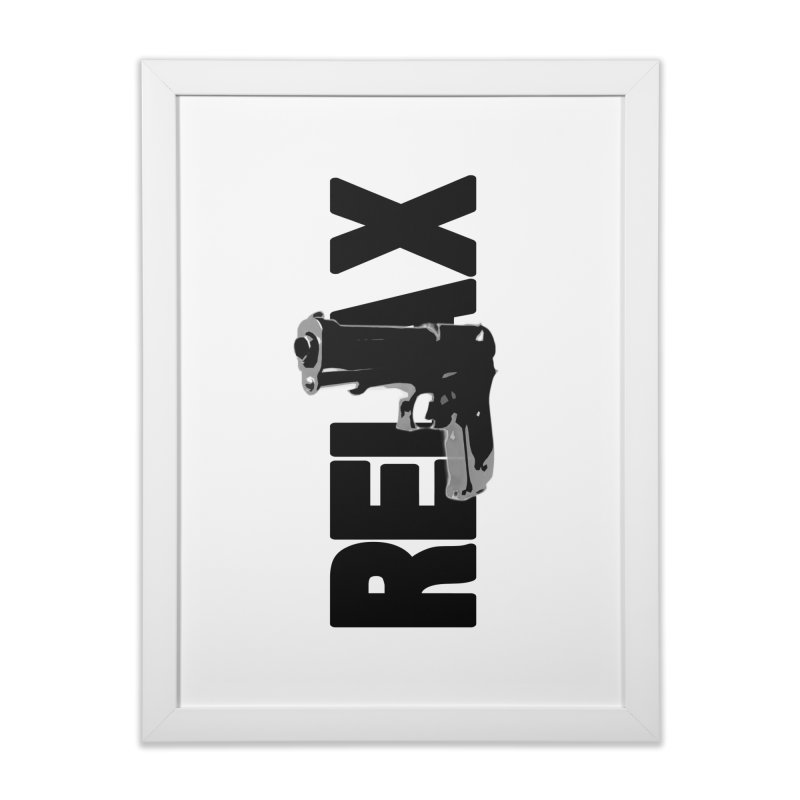RE⅃AX Home Framed Fine Art Print by SHADEPRINT.DESIGN