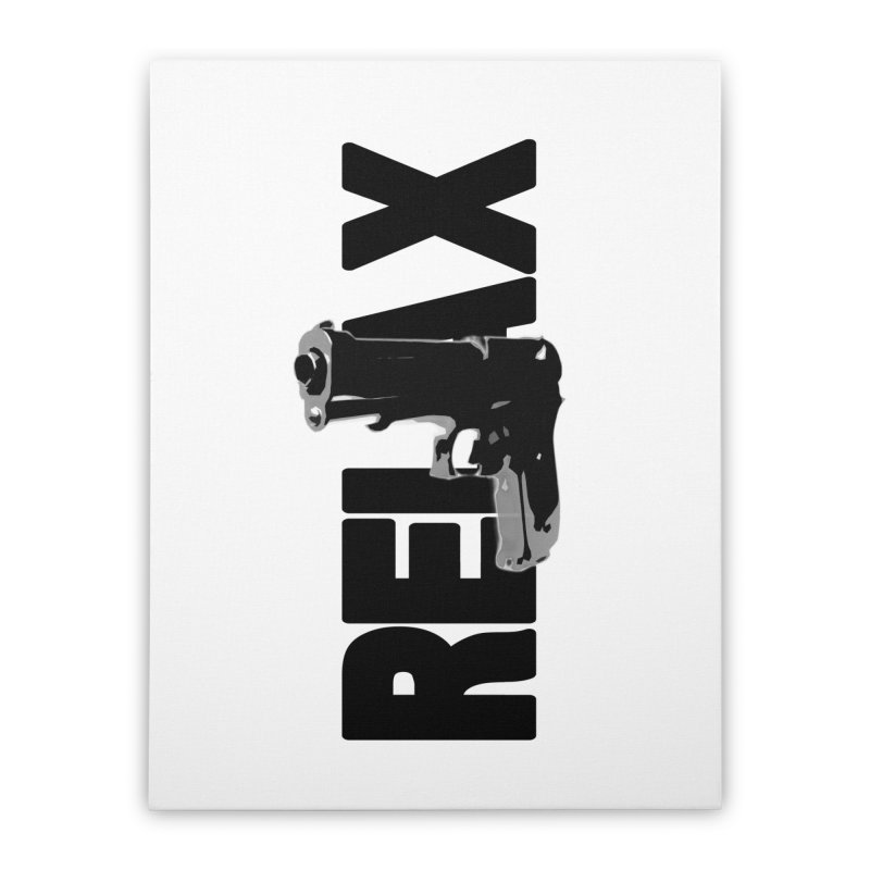 RE⅃AX Home Stretched Canvas by Shadeprint's Artist Shop
