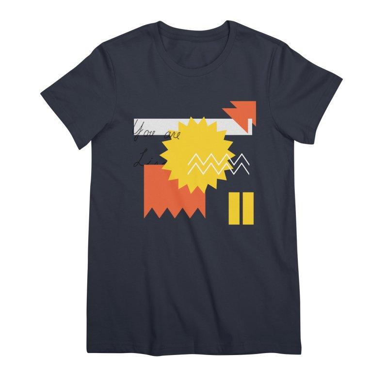 You are... Women's Premium T-Shirt by Shadeprint's Artist Shop