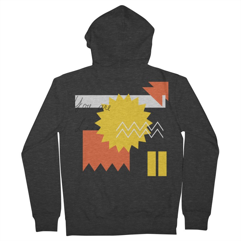 You are... Men's French Terry Zip-Up Hoody by Shadeprint's Artist Shop