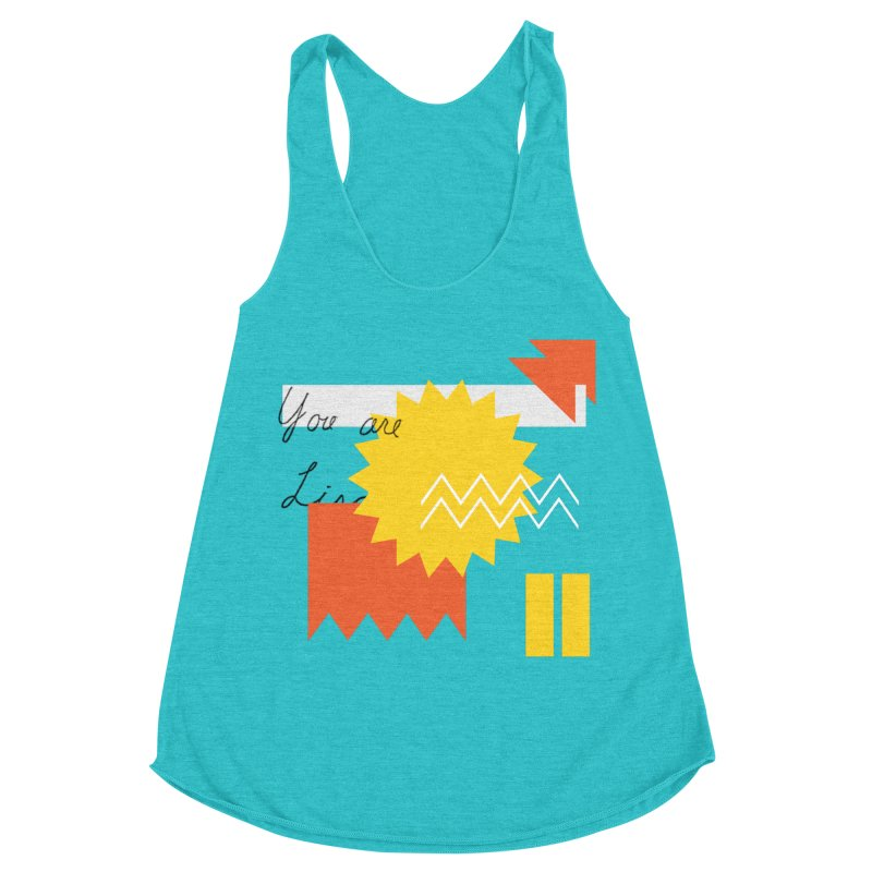 You are... Women's Racerback Triblend Tank by Shadeprint's Artist Shop