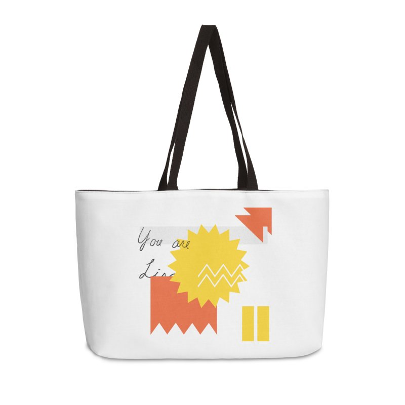 You are... Accessories Weekender Bag Bag by Shadeprint's Artist Shop