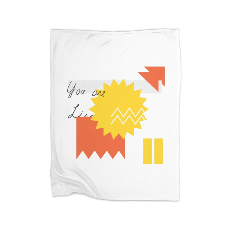 You are... Home Fleece Blanket Blanket by Shadeprint's Artist Shop