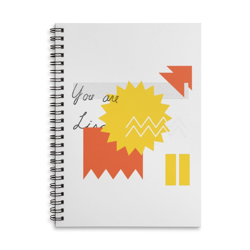 You are... Accessories Lined Spiral Notebook by Shadeprint's Artist Shop
