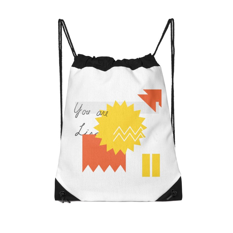 You are... Accessories Drawstring Bag Bag by Shadeprint's Artist Shop