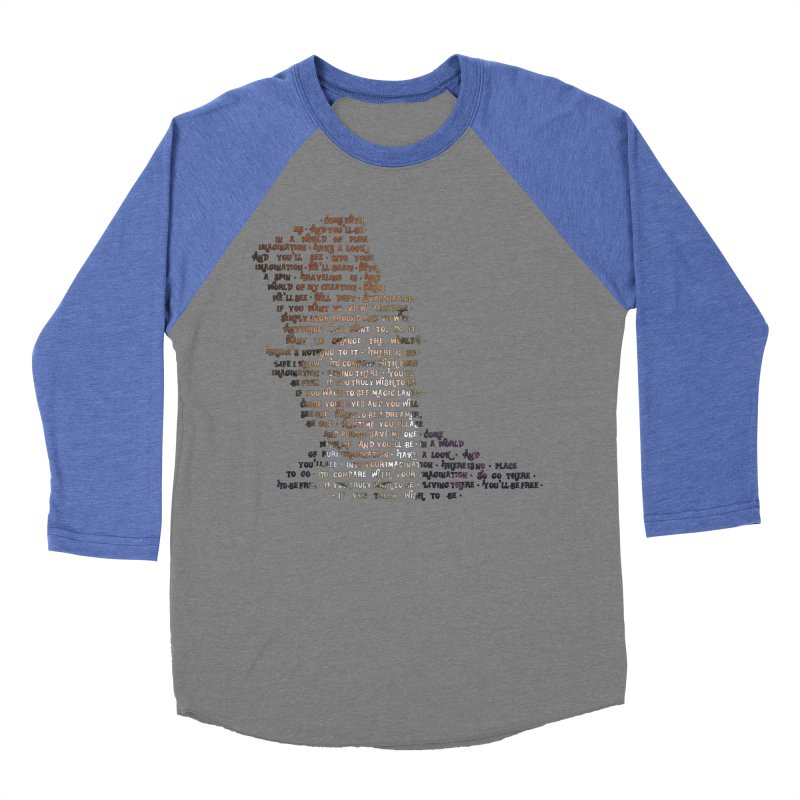 Pure Imagination Men's Baseball Triblend Longsleeve T-Shirt by Shappie's Glorious Design Shop