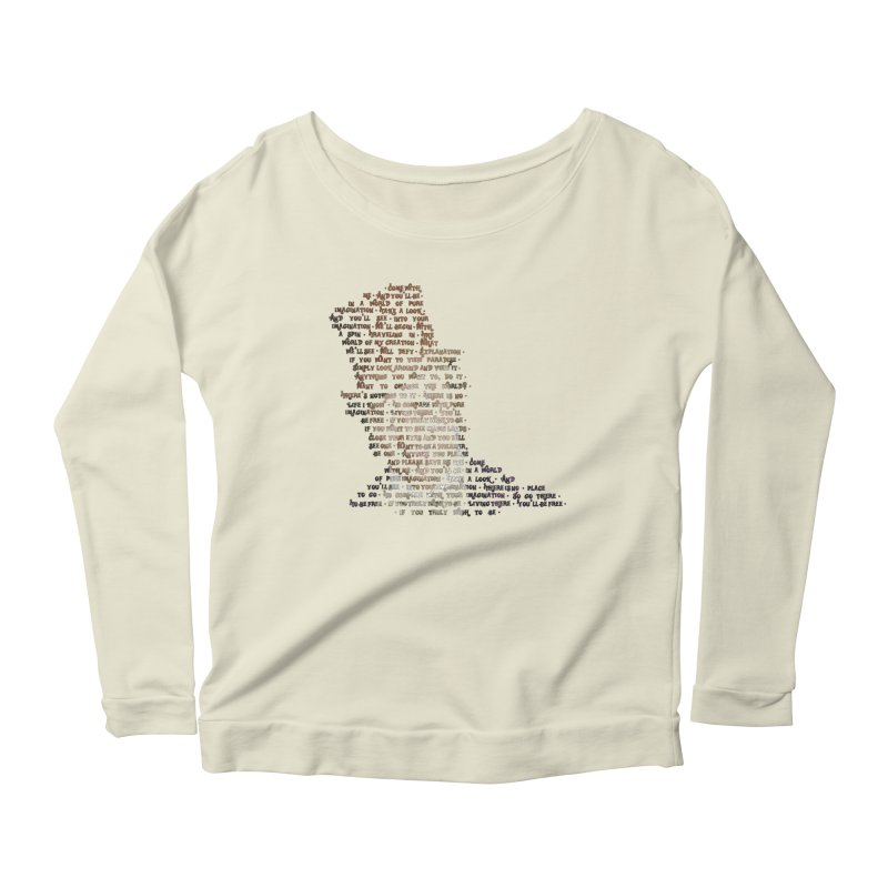 Pure Imagination Women's Longsleeve Scoopneck  by Shappie's Glorious Design Shop